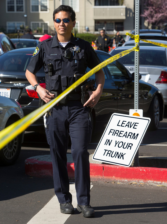 . The Peninsula cities of Palo Alto, Menlo Park and East Palo Alto police held a gun buyback at East Palo Alto City Hall on Saturday.(John Green/Staff)