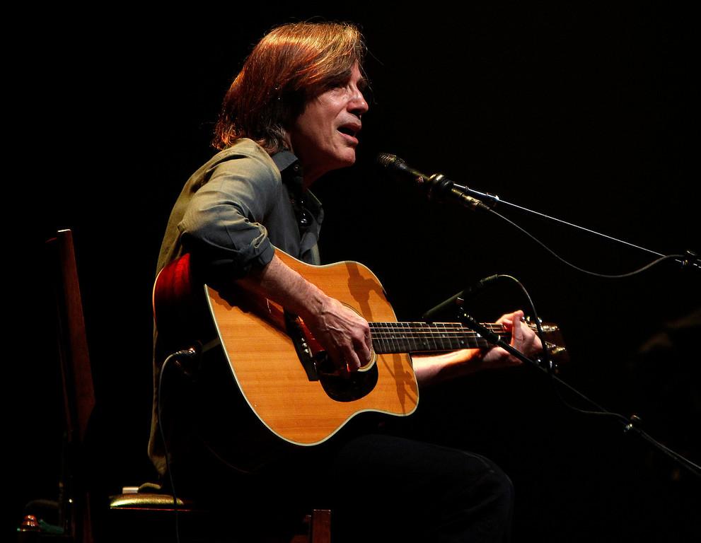 . Jackson Browne performs at the San Jose Civic in downtown San Jose, Calif. on Tuesday, Jan. 22, 2013.  (Nhat V. Meyer/Staff)