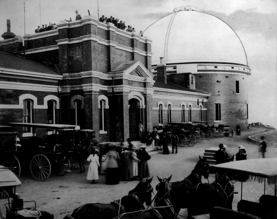 . Lick Observatory on Mt. Hamilton as it appeared in 1907. (Photo source unknown)