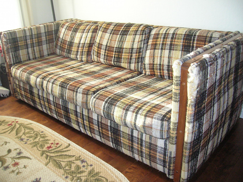 . The Winner! Yes, Jim and Libby Adams of Livermore are the lucky winners of Bay Area News Group\'s Ugly Couch contest. This sofa is truly a classic, and the added attraction of the mismatched rug put it right over the top.