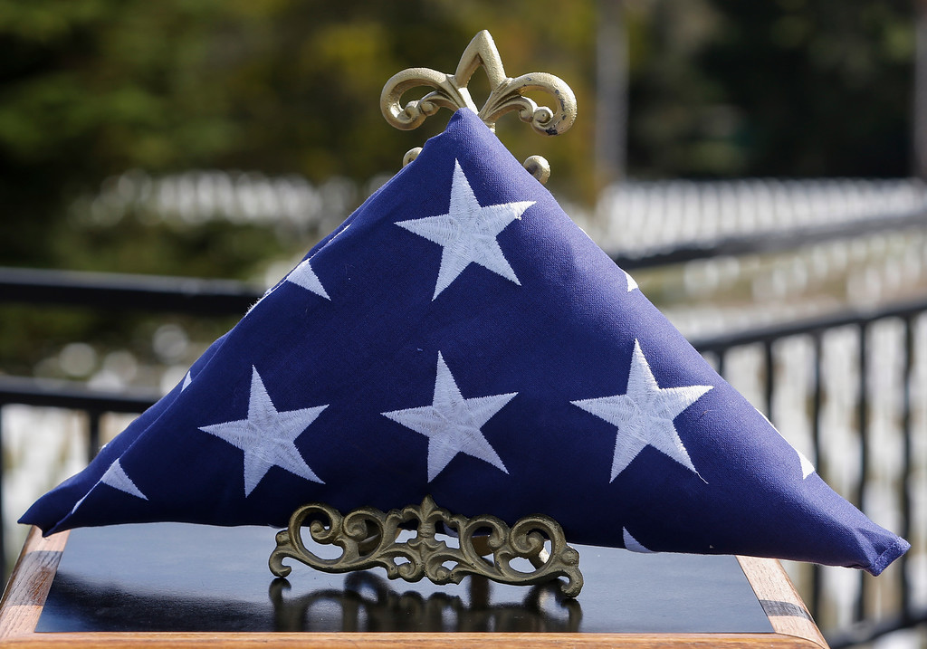 . The American flag that was presented to Marlene Baisa, niece of Sgt. 1st Class Joseph Steinberg at Golden Gate National Cemetery in San Bruno, Calif., on Aug. 1, 2013. (John Green/Bay Area News Group)
