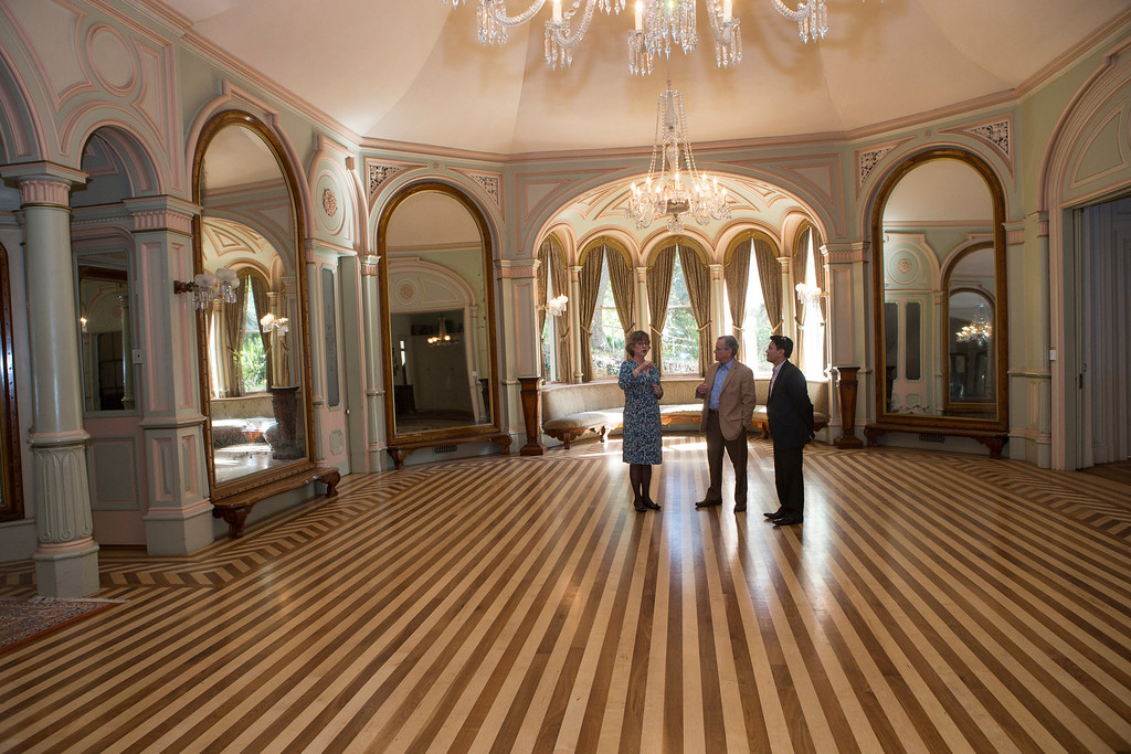 . The ballroom in Ralston Hall was inspired by the Palace of Versailles in France.
