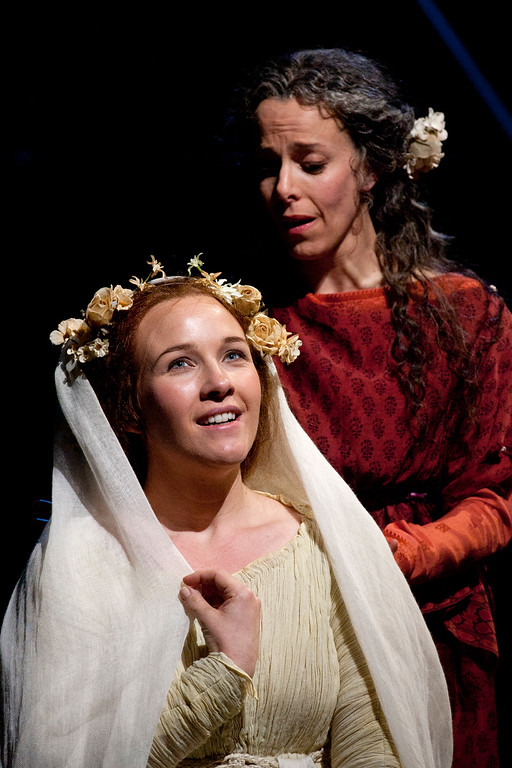 """. Sasha Cooke, left, as Mary Magdalene and Maria Kanyova as Miriam, in San Francisco Opera\'s world premiere of Mark Adamo\'s \""""The Gospel of Mary Magdalene,\"""" Sunday, June 16, 2013 at the War Memorial Opera House in San Francisco. (D. Ross Cameron/Bay Area News Group)"""