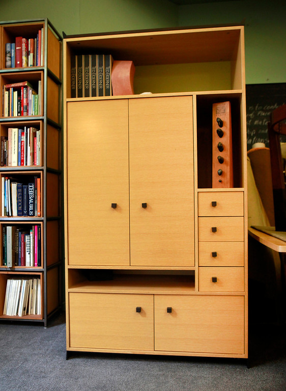 . The San Francisco design studio Ted Boerner, Inc. keeps one of their signature pieces, the Sidelines cabinet, at their  office Wednesday, July 10, 2013 in San Francisco, Calif. (Karl Mondon/Bay Area News Group)