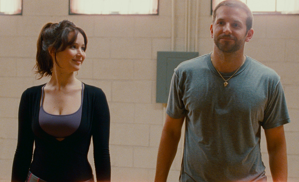 . BEST BUDGET REMODEL: Jennifer Lawrence and Bradley Cooper learn how to dance and love again in the cinder-block dance studio from �Silver Linings Playbook.� (JoJo Whilden © 2012 The Weinstein Company. All Rights Reserved.)