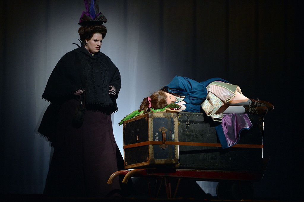 """. Actors work through a scene during a rehearsal for a collaborative production of \""""The Secret Garden\"""" by Cal Performances and S.F. Opera at Zellerbach Hall on the University of California campus in Berkeley, Calif. on Wednesday, Feb. 27, 2013. (Kristopher Skinner/Staff)"""