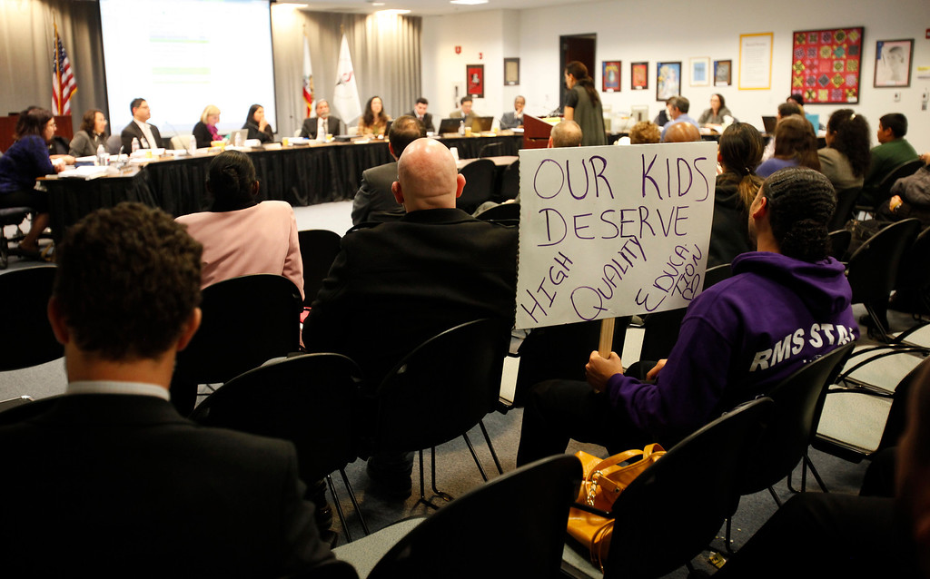 . The Santa Clara County Board of Education meeting regarding Rocketship Education\'s petition to open a new school during a board meeting at the Santa Clara County Office of Education San Jose, Calif. on Wednesday, Jan. 23, 2013.  (Nhat V. Meyer/Staff)