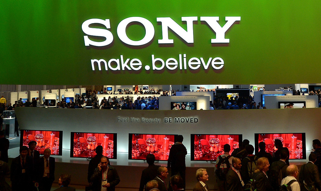 . Visitors view Sony TVs at the Sony booth during the 2013 International CES at the Las Vegas Convention Center on January 8, 2013 in Las Vegas, Nevada. (JOE KLAMAR/AFP/Getty Images)