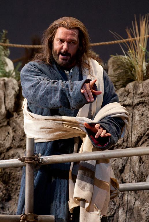 ". Baritone Nathan Gunn portrays Yeshua (Jesus) in San Francisco Opera\'s world premiere of Mark Adamo\'s \""The Gospel of Mary Magdalene,\"" Sunday, June 16, 2013 at the War Memorial Opera House in San Francisco. (D. Ross Cameron/Bay Area News Group)"