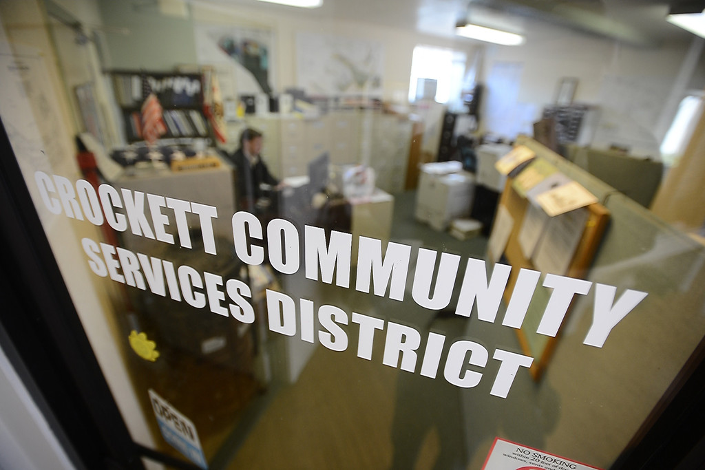 . The office of the Crockett Community Services District is photographed in Crockett, Calif. on Tuesday, Jan. 15, 2013. (Kristopher Skinner/Staff)