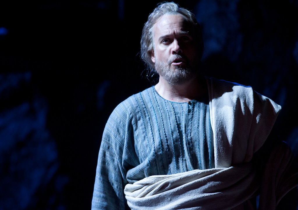 """. Peter (William Burden) denies knowing Yeshua (Jesus) in a scene from San Francisco Opera\'s world premiere of Mark Adamo\'s \""""The Gospel of Mary Magdalene,\"""" Sunday, June 16, 2013 at the War Memorial Opera House in San Francisco. (D. Ross Cameron/Bay Area News Group)"""