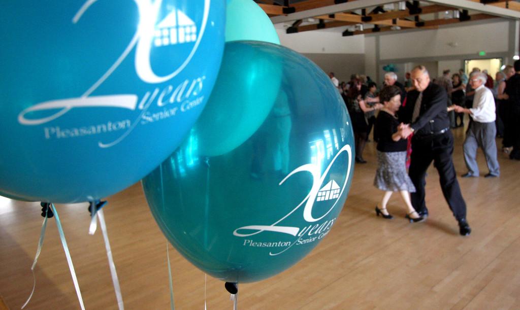 . The Cool Tones with lead singer, Kathy Blackburn, provided the music for the Pleasanton Senior Center\'s 20th anniversary celebration tea dance in Pleasanton, Calif. on Sunday, March 3, 2013.  (Jim Stevens/Staff)