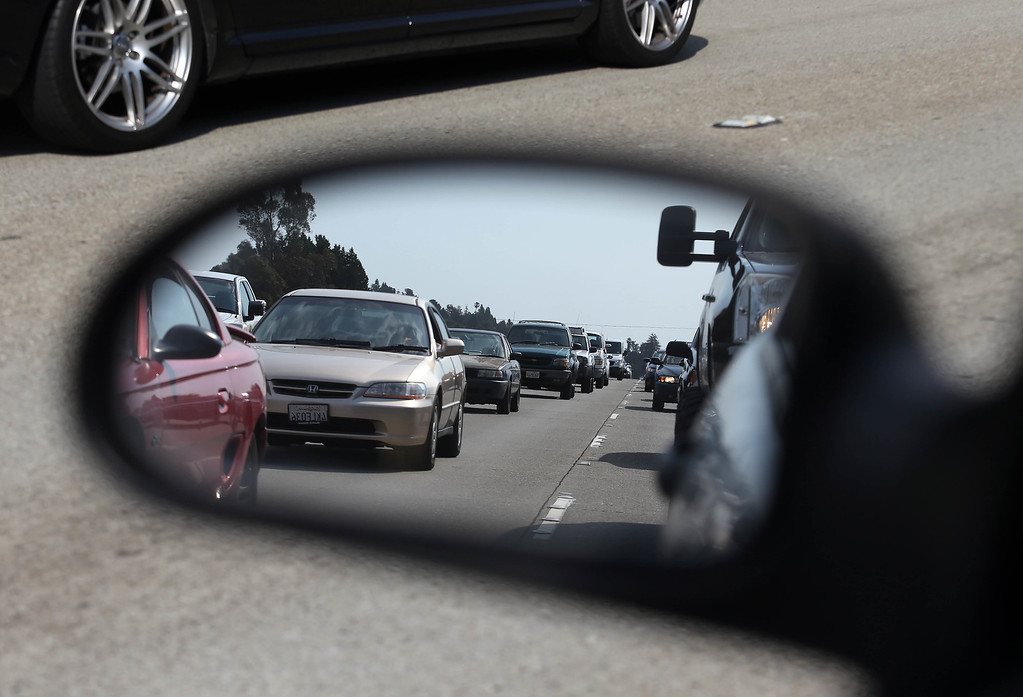 . Commuters drive on a busy Interstate 580 eastbound during the afternoon rush hour in Oakland, Calif., on Tuesday, July 2, 2013. The BART strike is in its second day and bargaining talks are set to resume after a 36-hour break. (Jane Tyska/Bay Area News Group)