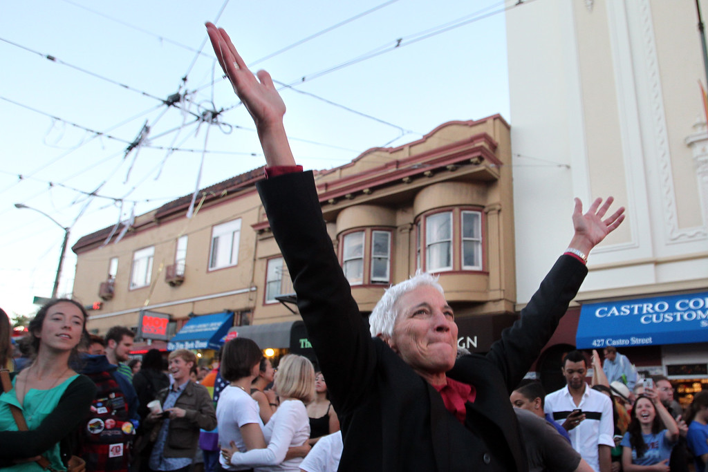 . The Gay Lesbian Transgender Bisexual community and their supporters celebrate the Supreme Court\'s rulings on Proposition 8 and the Defense of Marriage Act  in the Castro district in San Francisco, Calif., on Wednesday, June 26, 2013. (Ray Chavez/Bay Area News Group)