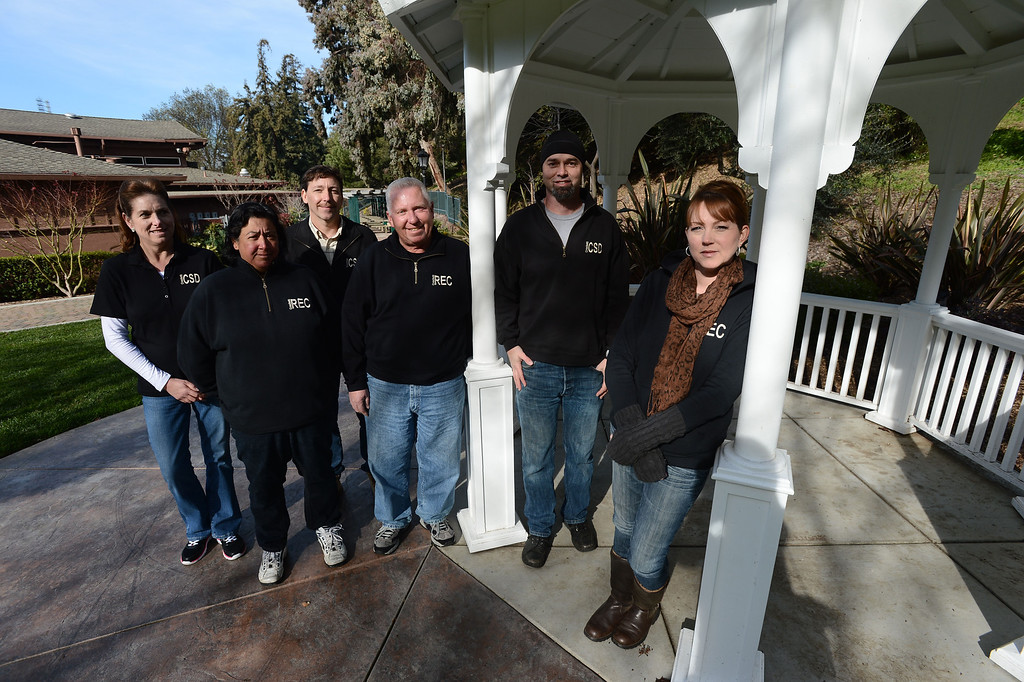. The staff members of the Crockett Community Services District, from left, Susan Witschi, Dolores Morales, Michael Kirker, Ron Wilson, Dale McDonald and Amy Carlos are photographed in Crockett, Calif. on Tuesday, Jan. 15, 2013. (Kristopher Skinner/Staff)