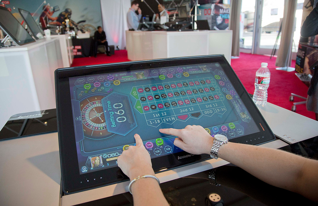. A game of roulette is played during a demonstration on the Lenovo IdeaCenter Horizon 27-inch table PC at the Consumer Electronics Show, Wednesday, Jan. 9, 2013, in Las Vegas. (AP Photo/Julie Jacobson)