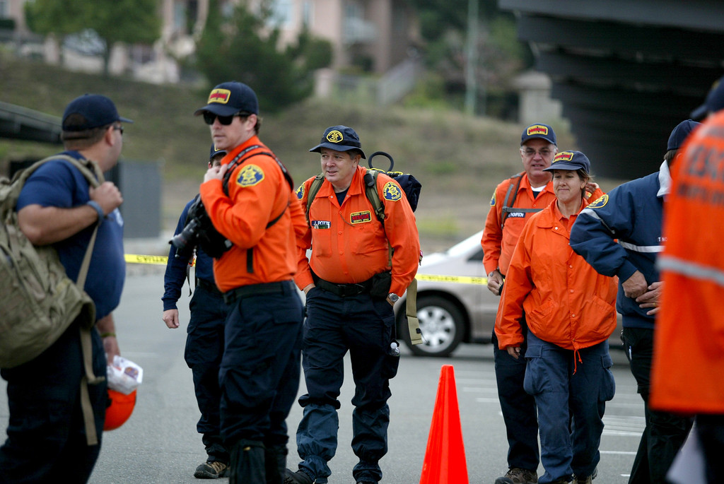 . Oakland police, along with Alameda County Sheriff and Santa Clara County Sheriff volunteer rescue teams and FBI agencies, begin the search for the missing  22-month-old Daphne Webb near Merritt College in Oakland, Calif., on Saturday, Aug. 24, 2013. (Ray Chavez/Bay Area News Group)