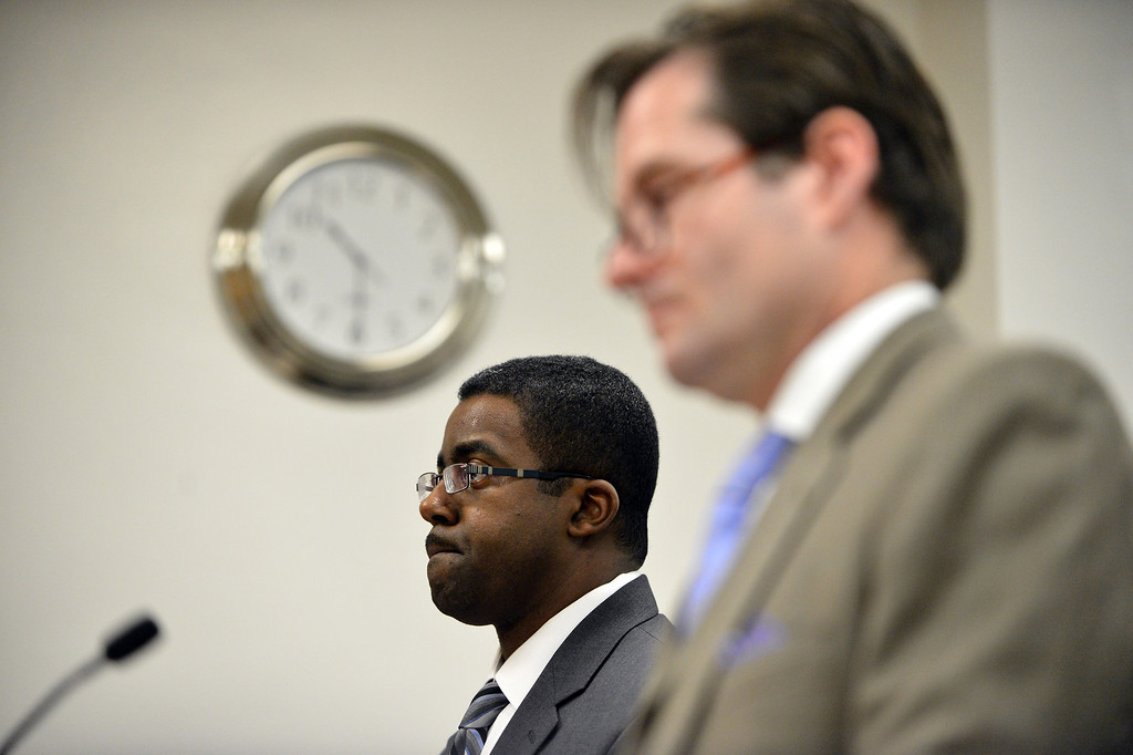 . Brian Franklin, far, attorney for Children\'s Hospital Oakland, and Christopher Dolan, attorney for the family of Jahi McMath, listen to the judge during a court hearing to discuss the treatment Jahi in Oakland, Calif. on Monday, Dec. 23, 2013. Jahi remains on a ventilator at Children\'s Hospital after suffering tragic complications during surgery. (Kristopher Skinner/Bay Area News Group)