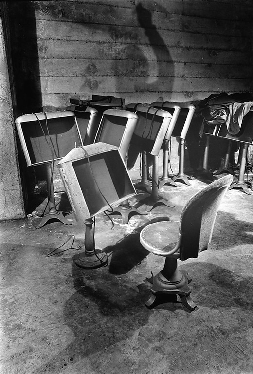 . Old orchestra seating and music stands rest inside the Paramount Theatre in Oakland in 1972. The theater, which opened in 1931, fell into disrepair and was in danger of being demolished when the Oakland East Bay Symphony chose it for its new home in 1970. The newly renovated theatre reopened in 1973. (Howard Erker/Bay Area News Group Staff Archives)
