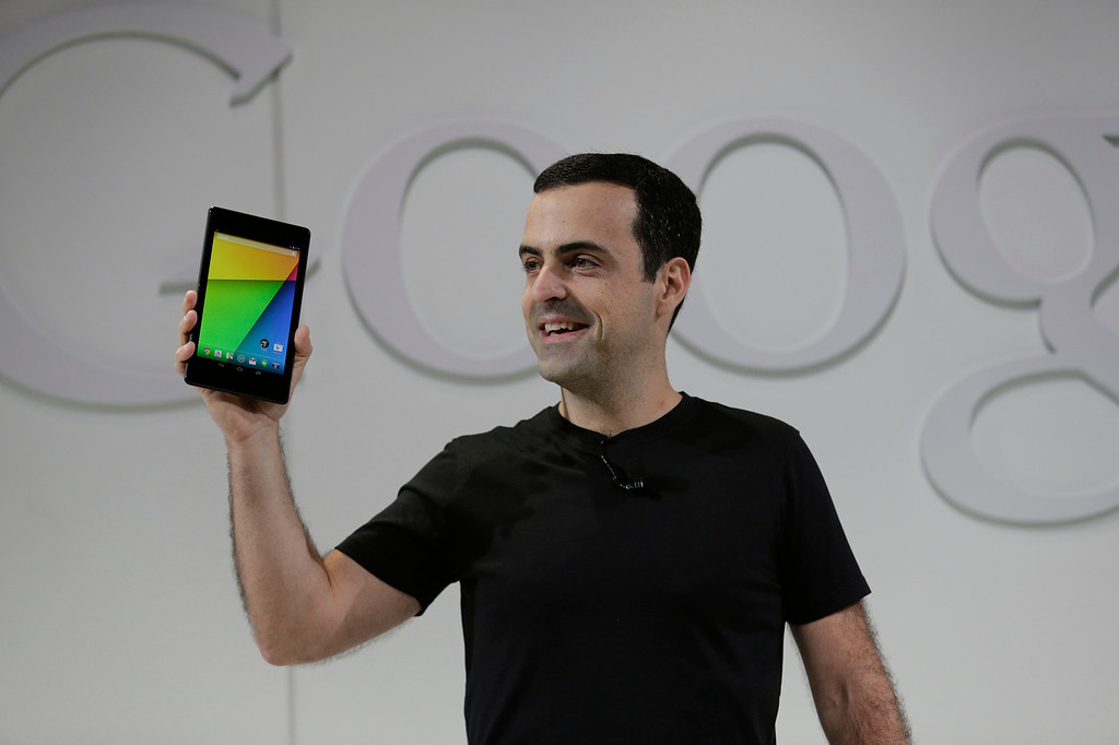 . Hugo Barra, vice president, Android Product Management at Google introduces the Nexus7 tablet at Dogpatch Studios in San Francisco, Calif. on Wednesday, July 24, 2013.  (Gary Reyes/Bay Area News Group)
