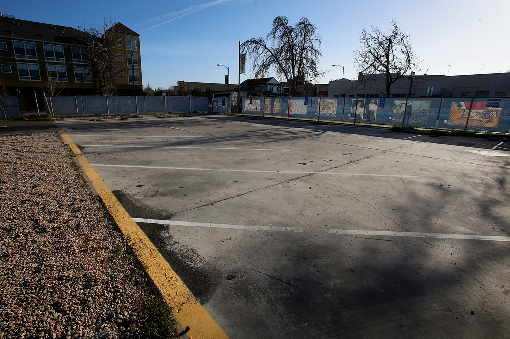 . An empty lot at at the corner of N 6th St. and Jackson St. looking south in Japantown in San Jose, Calif., on Monday, Feb. 25, 2013.  After years of on-again, off-again plans for development of five acres of the city�s former Corporation Yard in Japantown, the San Jose City Council on Tuesday is expected to approve a term sheet with a developer in an effort to revitalize Japantown with housing, retail, an urban plaza, performance space and strong historical connection.  (Nhat V. Meyer/Staff)