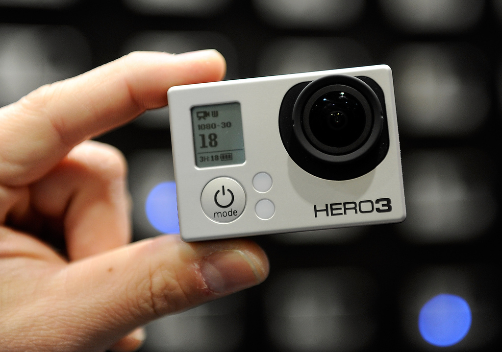 . The GoPro Hero 3 with intergrated WiFi is displayed at the 2013 International CES at the Las Vegas Convention Center on January 9, 2013 in Las Vegas, Nevada. (Photo by David Becker/Getty Images)