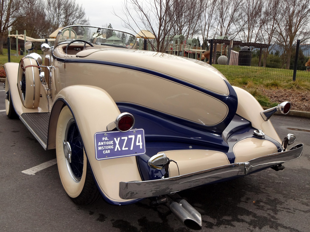 . Lloyd Riggs, of Walnut Creek, Calif., shows his rare 1931 Auburn Speedster Model 8-98. This is a view of the driver\'s side. (David Krumboltz/For Bay Area News Group)