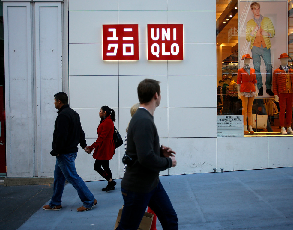 . The Uniqlo clothing store on Powell St. in downtown San Francisco, Calif. on Thursday, Jan. 17, 2013.  They opened their store in San Francisco in October 2012.  (Nhat V. Meyer/Staff)