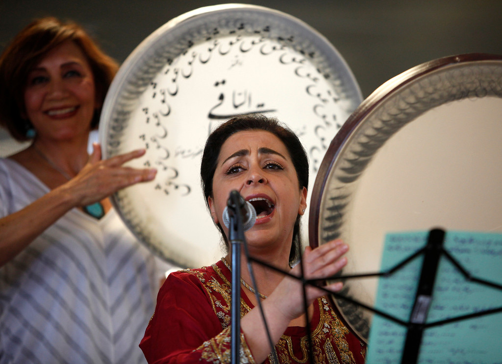 . Homeyrah Banejad performs during the West Valley College 6th Annual Persian New Year Celebration at the college in Saratoga, Calif. on Monday, March 10, 2014.  (Nhat V. Meyer/Bay Area News Group)