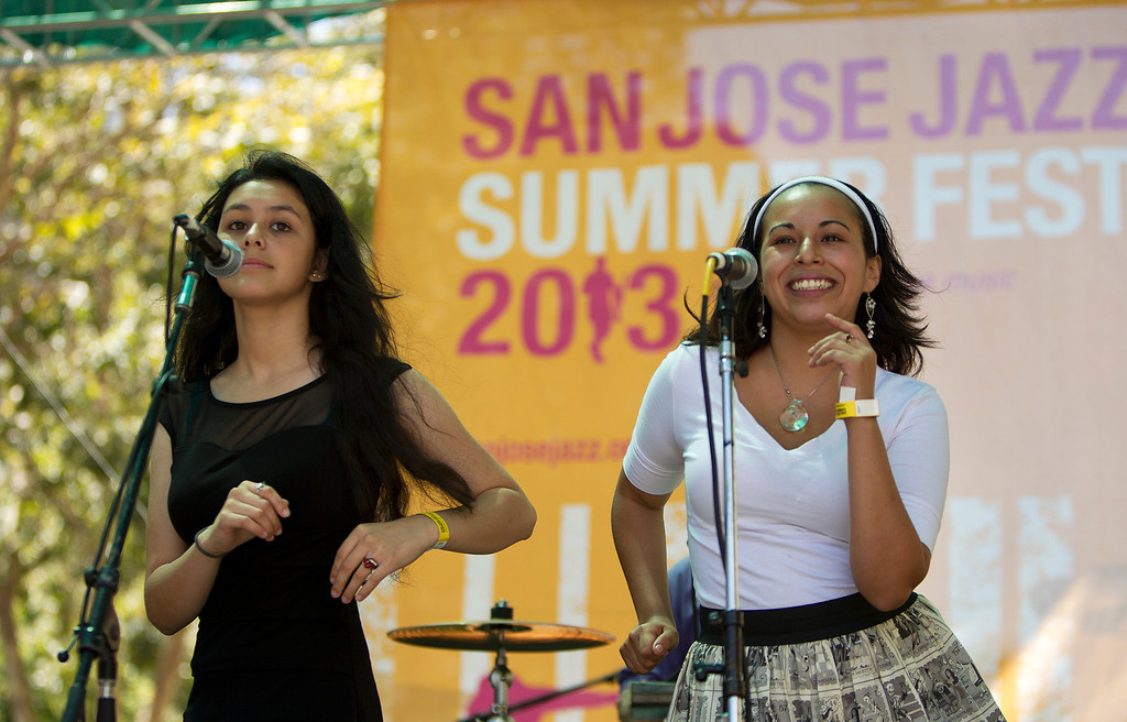 . Members of Futuro Picante perform on the Kaiser Permanente Salsa Stage at the San Jose Jazz Festival, in San Jose, Calif., on Saturday Aug. 10, 2013.  (LiPo Ching/Bay Area News Group)