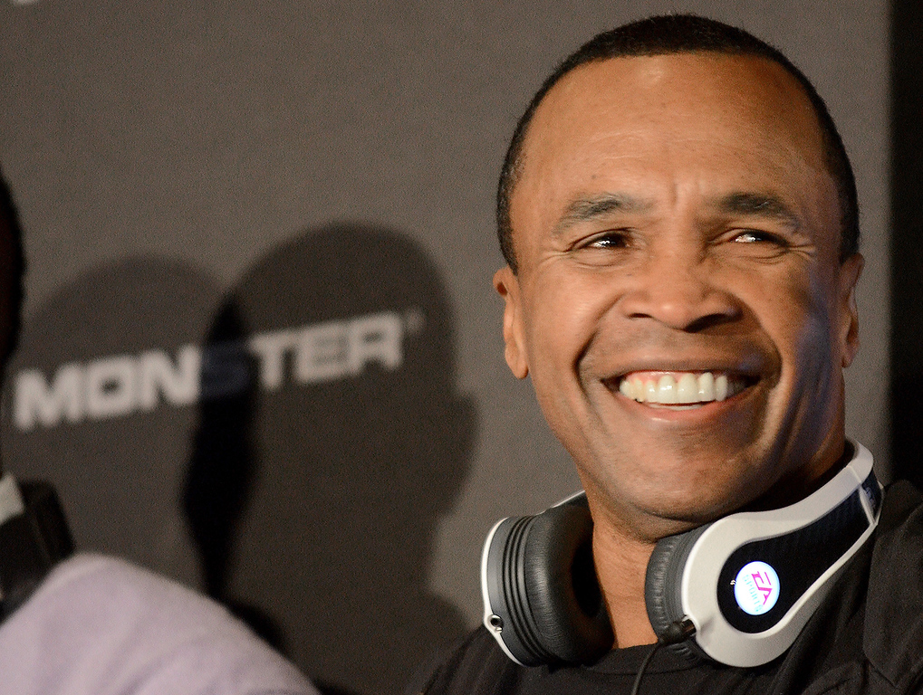 . Former boxer Sugar Ray Leonard  participates during the event of the new line of Monster headphones at the 2013 International Consumer Electronics Show in Las Vegas, Nevada, on January 07, 2013. (JOE KLAMAR/AFP/Getty Images)