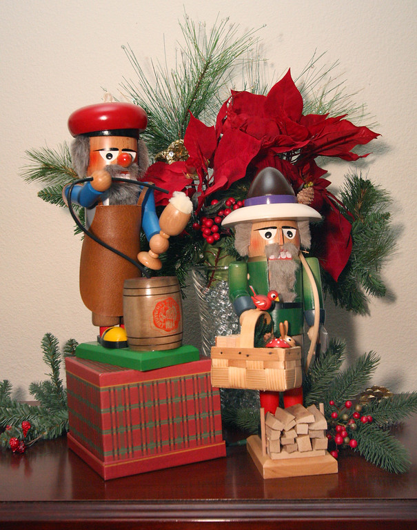 . Nutcrakers from Germany are displayed in the Gladys Young\'s home office in Danville, Calif., on Wednesday, Nov. 28, 2012. (Jim Stevens/Staff)