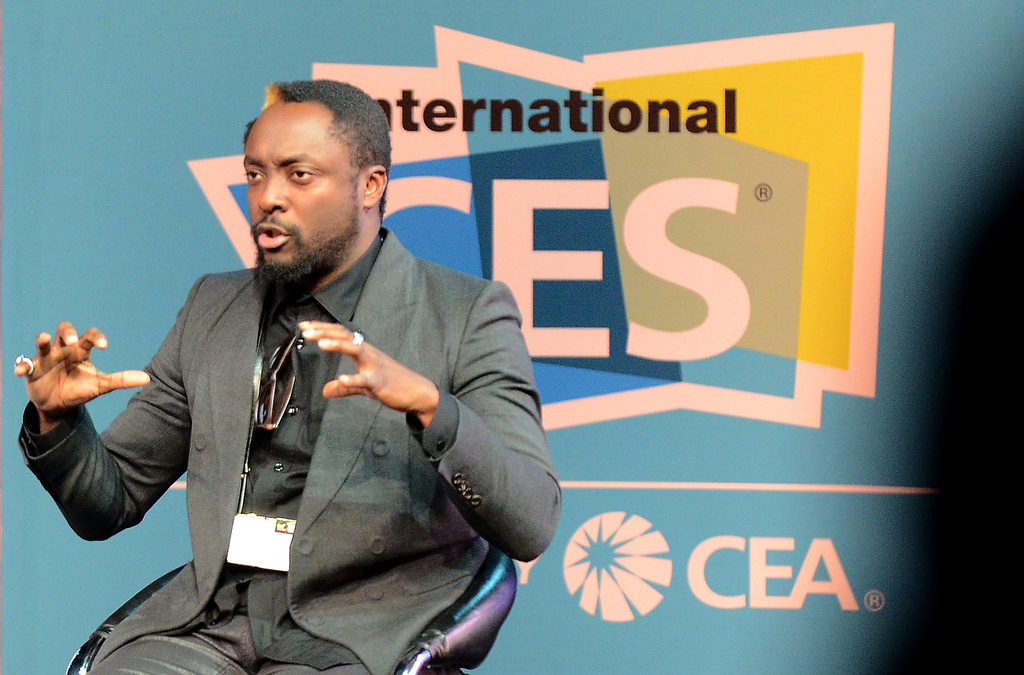 . Will.I.M. of Black Eyed Peas speaks as he attends the 2013 International CES at the Las Vegas Convention Center on January 8, 2013 in Las Vegas, Nevada. (JOE KLAMAR/AFP/Getty Images)