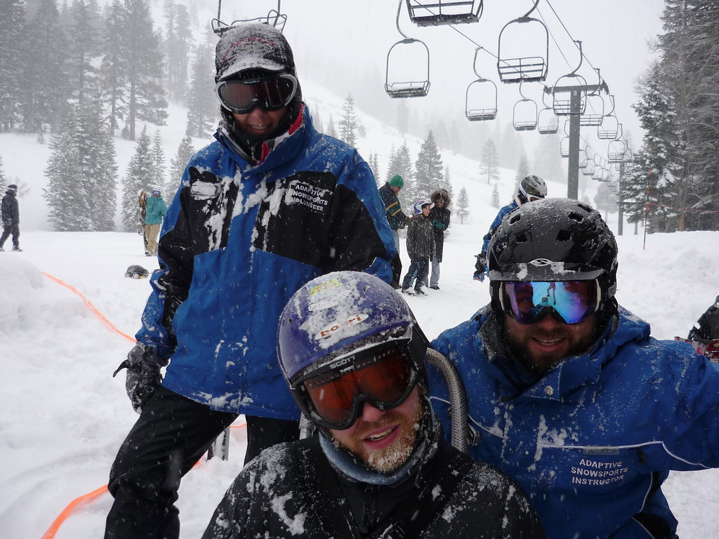 . Phillip Bennett is pictured while snow skiing in spite of suffering from a degenerative muscular disease. He died in 2011. (Courtesy of Valerie Bennett)