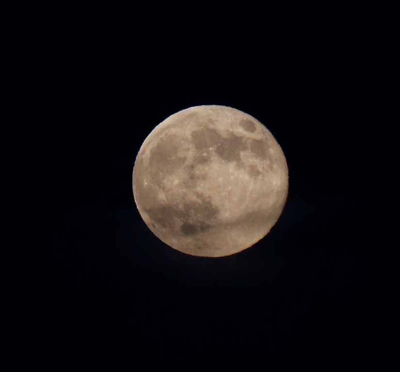". The supermoon, which scientists call a ""perigee moon,\"" that occurs when the moon is near the horizon and appears larger and brighter than other full moons, is photographed at Palo Alto Baylands Park in Palo Alto, Calif., on Sunday, Aug.10, 2014. (Josie Lepe/Bay Area News Group)"