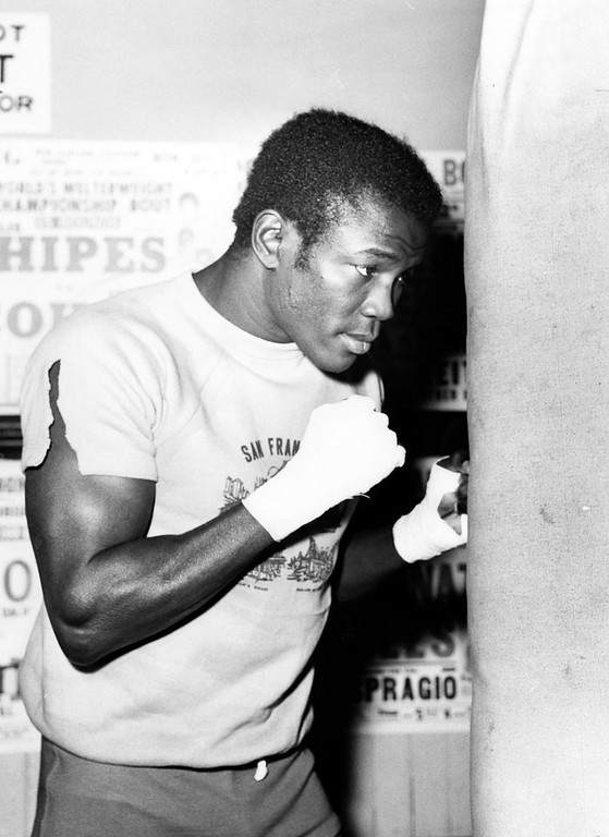 . Oakland, CA June 3, 1968 - Emile Griffith works out at the Oakland Boxing Club. (Jim Edelen / Oakland Tribune)