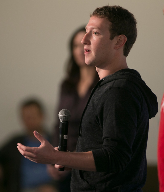 . Mark Zuckerberg announces Graph Search during a press conference at Facebook in Menlo Park, Calif., on Tuesday, Jan. 15, 2013. (John Green/Staff)