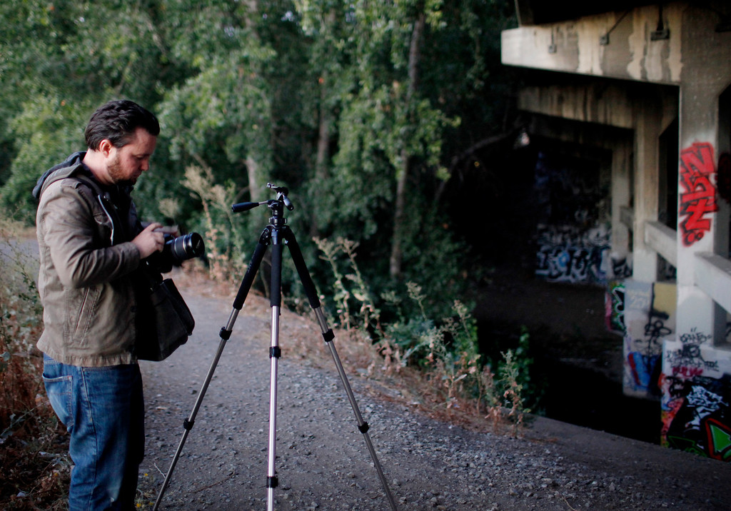 . Josh Marcotte, 34, prepares for shoot on location in San Jose, Calif., on Thursday, Aug. 1, 2013. (Josie Lepe/Bay Area News Group)