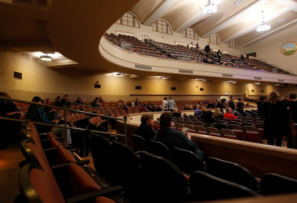 . Inside of the San Jose Civic before Jackson Browne performed in downtown San Jose, Calif. on Tuesday, Jan. 22, 2013.  (Nhat V. Meyer/Staff)