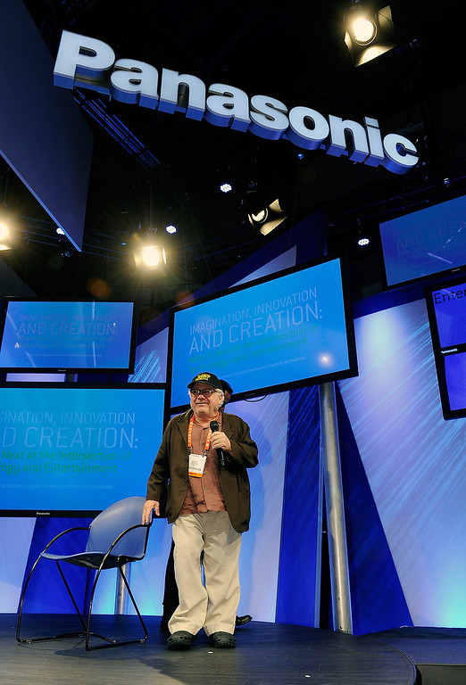 . Actor/director Danny DeVito speaks at the Panasonic booth during the 2013 International CES at the Las Vegas Convention Center on January 9, 2013 in Las Vegas, Nevada. (Photo by David Becker/Getty Images)