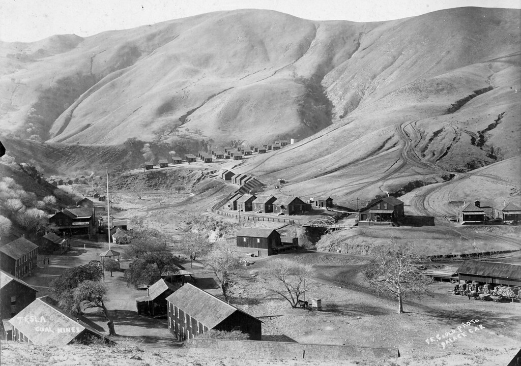 ". Tesla coal mines, looking east, by photographer G. E. Gould, ""Palace Car.\""  (Livermore Heritage Guild Collection)"