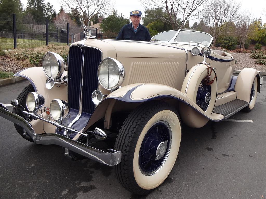 . Lloyd Riggs, of Walnut Creek, Calif., shows his rare 1931 Auburn Speedster Model 8-98. (David Krumboltz/For Bay Area News Group)