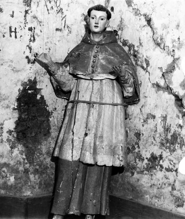 . Circa 1934 - Religious statue from the Franciscan missionaries. (Oakland Tribune Staff Archives)