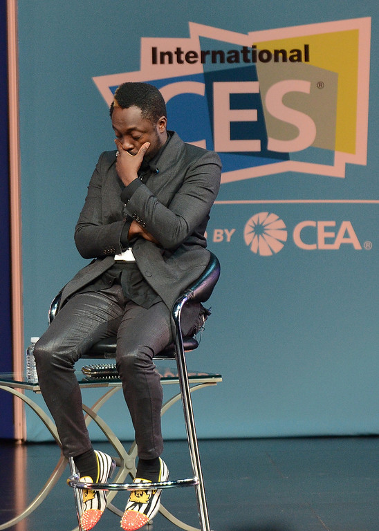 . Will.I.M. of Black Eyed Peas speaks during the 2013 International CES at the Las Vegas Convention Center on January 8, 2013 in Las Vegas, Nevada. (JOE KLAMAR/AFP/Getty Images)