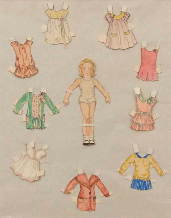 . Childhood Paper Dolls, c. 1920s. Copyright 2013 Eames Office, LLC (eamesoffice.com)