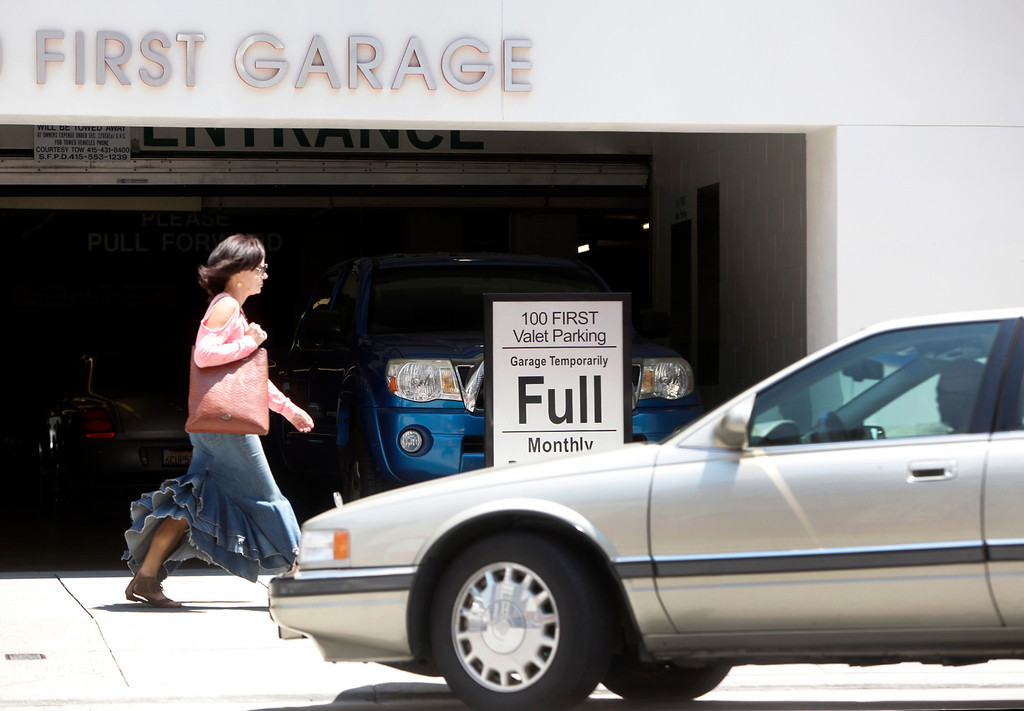. Parking is always at a premium in downtown San Francisco, Calif., even more so in the wake of the two-day old BART strike. This lot on Mission Street was filled to capacity on Tuesday afternoon, July 2, 2013. (Karl Mondon/Bay Area News Group)