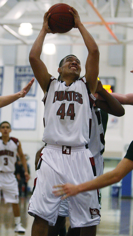 . Piedmont Hills\' Joseph Alvarez shoots in the second quarter during the Blossom Valley Athletic League boys basketball championship game at Independence High School in San Jose, Calif. on Friday, Feb. 15, 2013. (Jim Gensheimer/Staff)