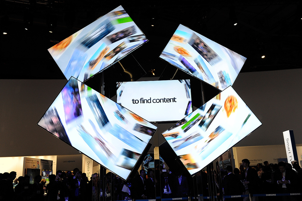 . A general view of the Samsung booth at the 2013 International CES at the Las Vegas Convention Center on January 8, 2013 in Las Vegas, Nevada. (Photo by David Becker/Getty Images)