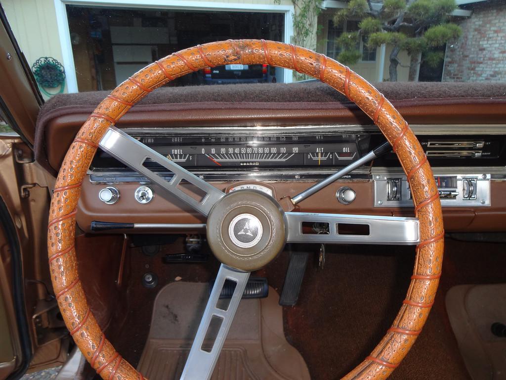 . Interior of Fred �Red� Pfeiffer\'s 1969 Dodge Dart Swinger.  (Photo by David Krumboltz)