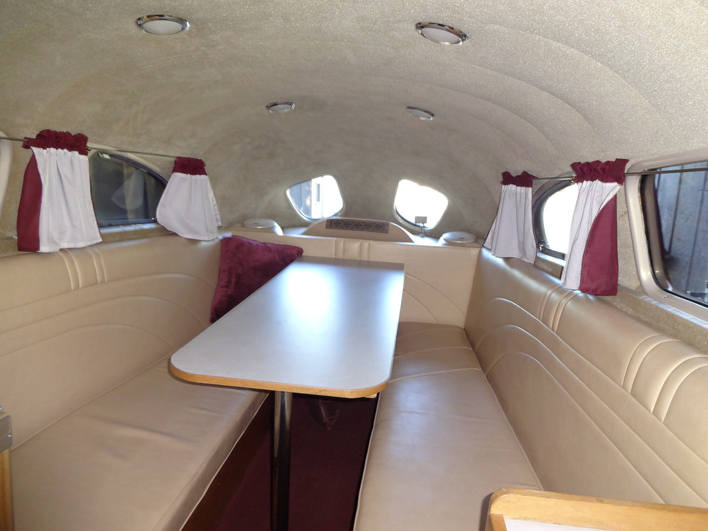 . Art Himsl\'s one-of-a-kind 1937 Chris Craft Motorhome,interior view.(photo by David Krumboltz)